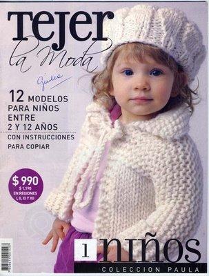 popular revista de crochet y tejido a dos agujas en
